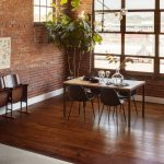 Table on Hardwood floor | Hughes Floor Coverings Inc.