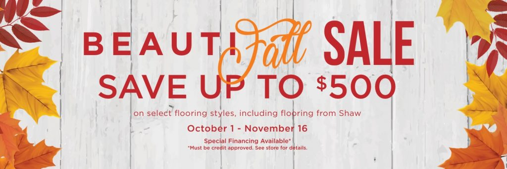Beautifall sale banner | Hughes Floor Coverings Inc