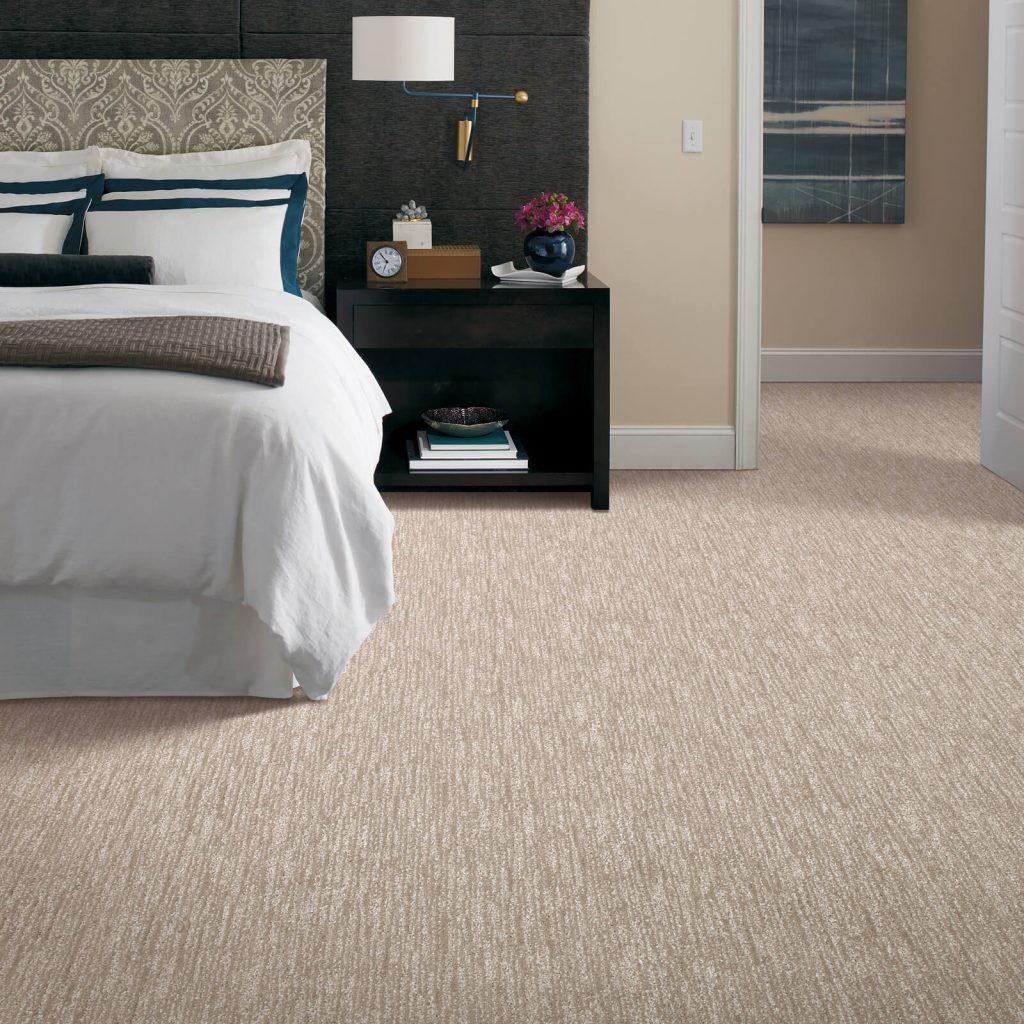 New carpet in bedroom | Hughes Floor Coverings Inc