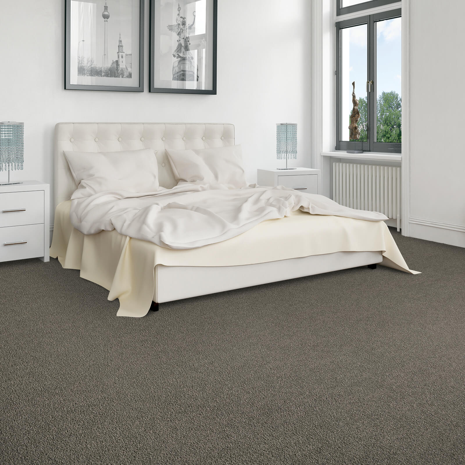 Carpet in bedroom | Hughes Floor Coverings Inc