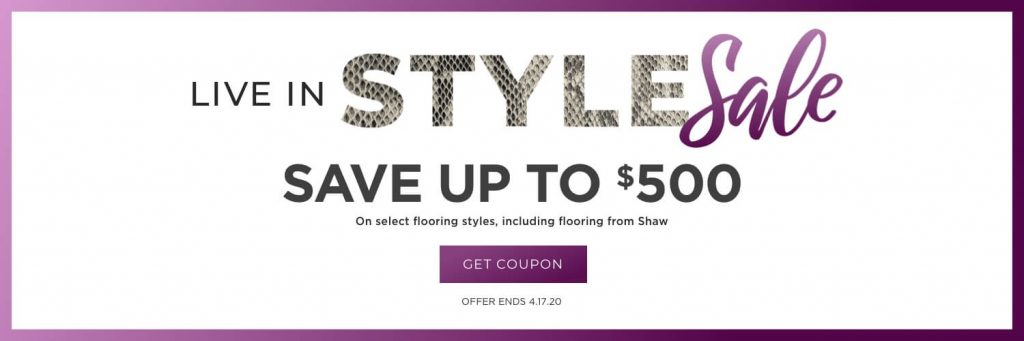 Live in Style Sale | Hughes Floor Coverings Inc