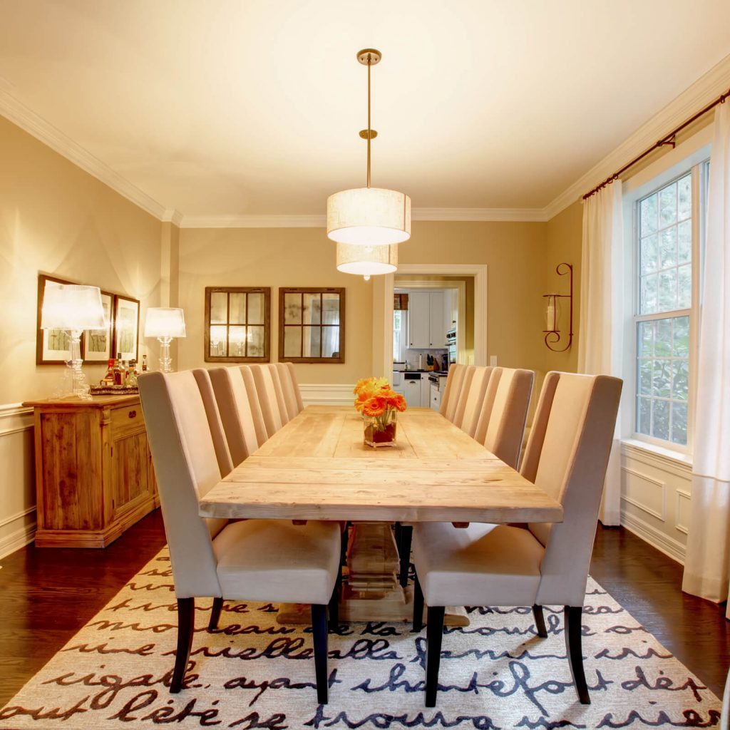 Choosing the Best Rug for Your Dining Room| Hughes Floor Coverings Inc