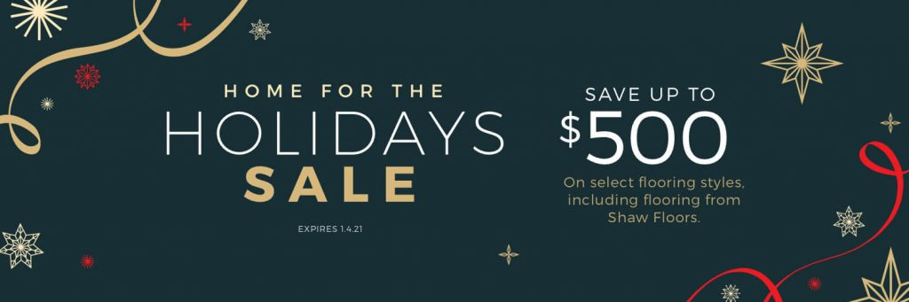 Home For the holiday sale | Hughes Floor Coverings Inc